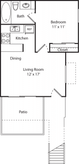 1 Bed / 1 Bath / 450 sq ft / Availability: Please Call / Deposit: $350 / Rent: $935