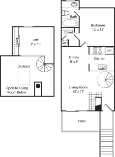 1 Bed / 1 Bath / 800 sq ft / Availability: Please Call / Deposit: $350 / Rent: $1,120